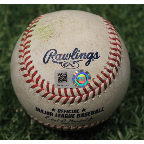 Photo of Game-Used Baseball: Yu Darvish 1312th Career Strikeout (CHC @ KC 8/5/20)