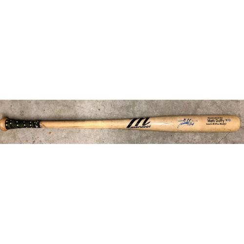 Photo of Rays Baseball Foundation: Game Used Autographed Broken Bat: Ji-Man Choi - June 5, 2019 at DET - Matt Duffy Model