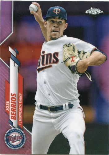 Photo of 2020 Topps Chrome Pink Refractors #125 Jose Berrios