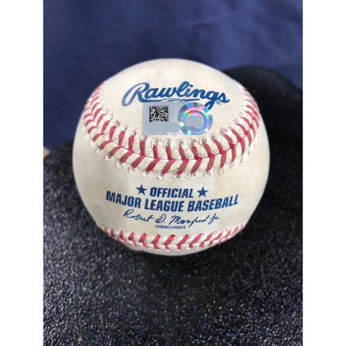 Photo of Game-Used Baseball - 2020 ALCS - Tampa Bay Rays vs. Houston Astros - Game 3 - Pitcher: Diego Castillo, Batter: Josh Reddick (Strike Out) - Bot 9