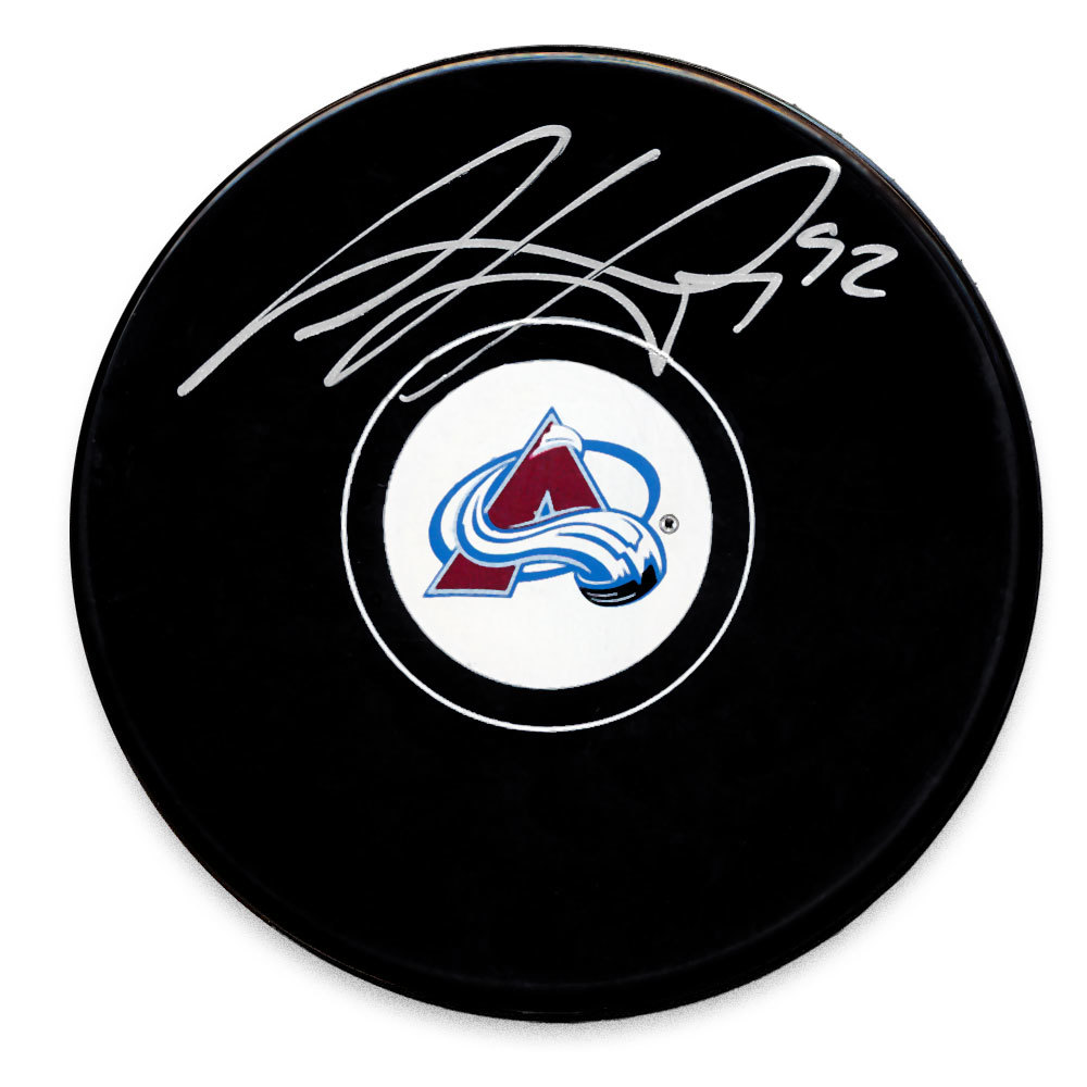 Gabriel Landeskog Colorado Avalanche Autographed Puck