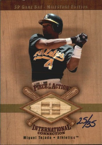 Photo of 2001 SP Game Bat Milestone Piece of Action International Gold #IMT Miguel Tejada