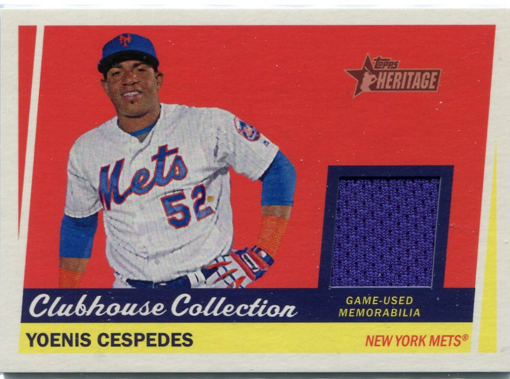 2016 Topps Heritage Clubhouse Collection Relics game worn jersey Yoenis Cespedes