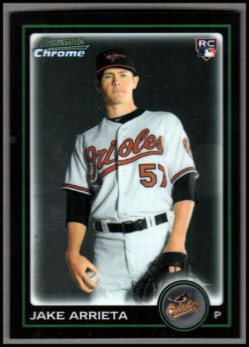 Photo of 2010 Bowman Chrome Draft #BDP41 Jake Arrieta RC