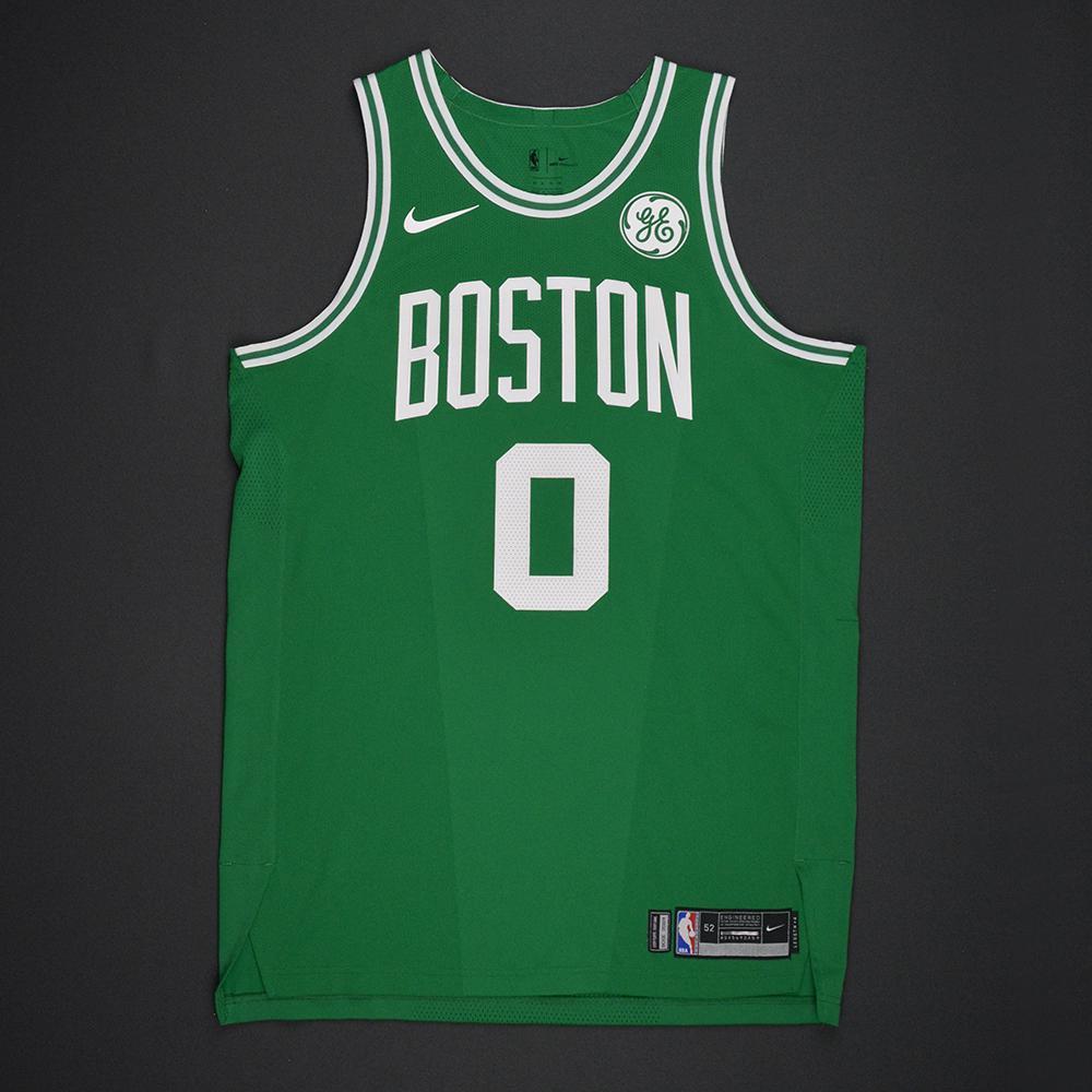 buy popular a52df 651b8 Jayson Tatum - Boston Celtics - Opening Night Game-Worn ...