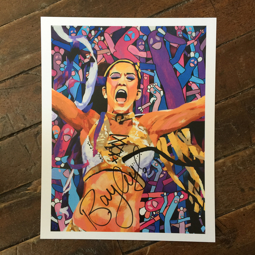 Bayley SIGNED 11 x 14 Rob Schamberger Print