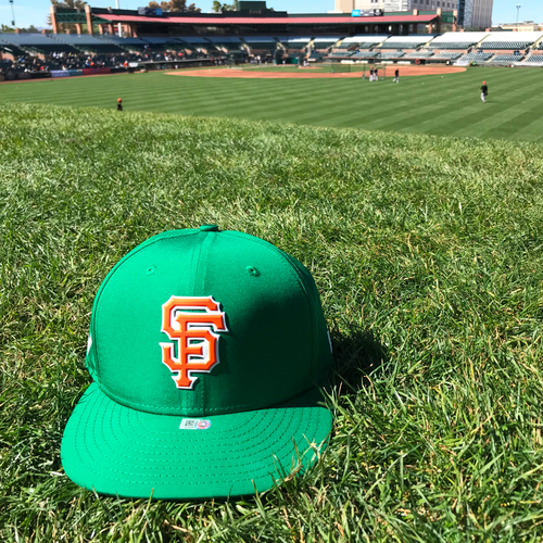 Photo of San Francisco Giants - 2018 St. Patrick's Day - Game-Used Cap - Derek Law