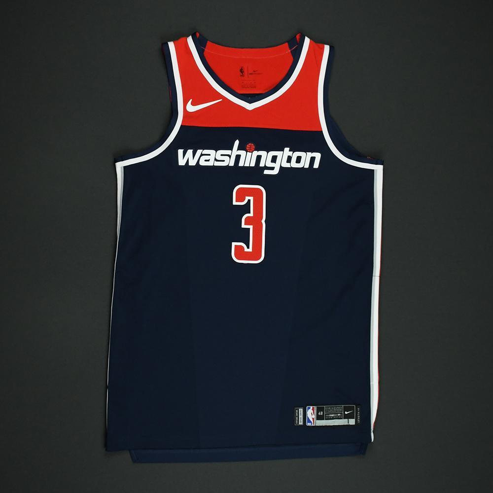 Bradley Beal - Washington Wizards - 2018 NBA Playoffs Game-Worn  Statement   Jersey 6fd5d9a15