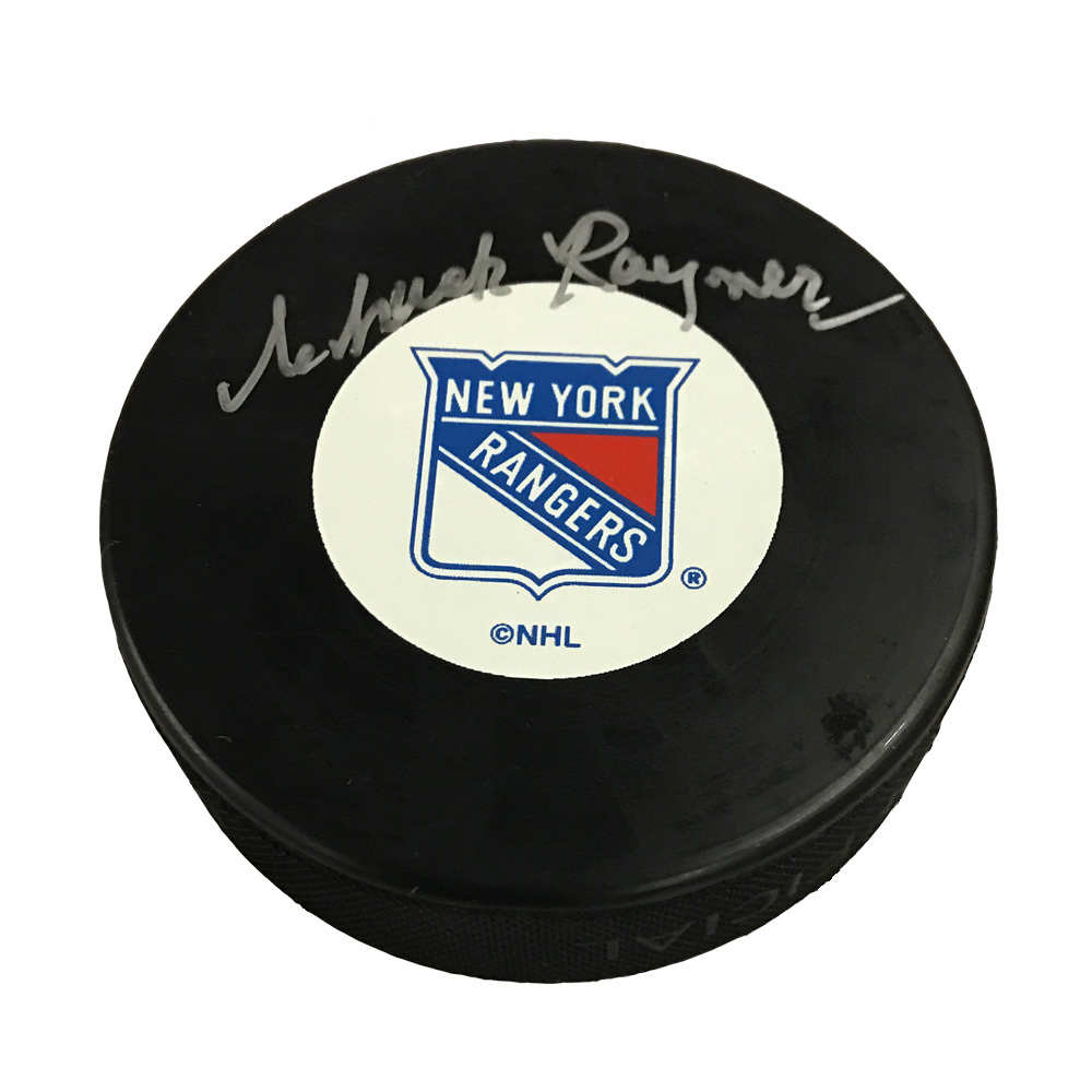 CHUCK RAYNER Signed New York Rangers Puck