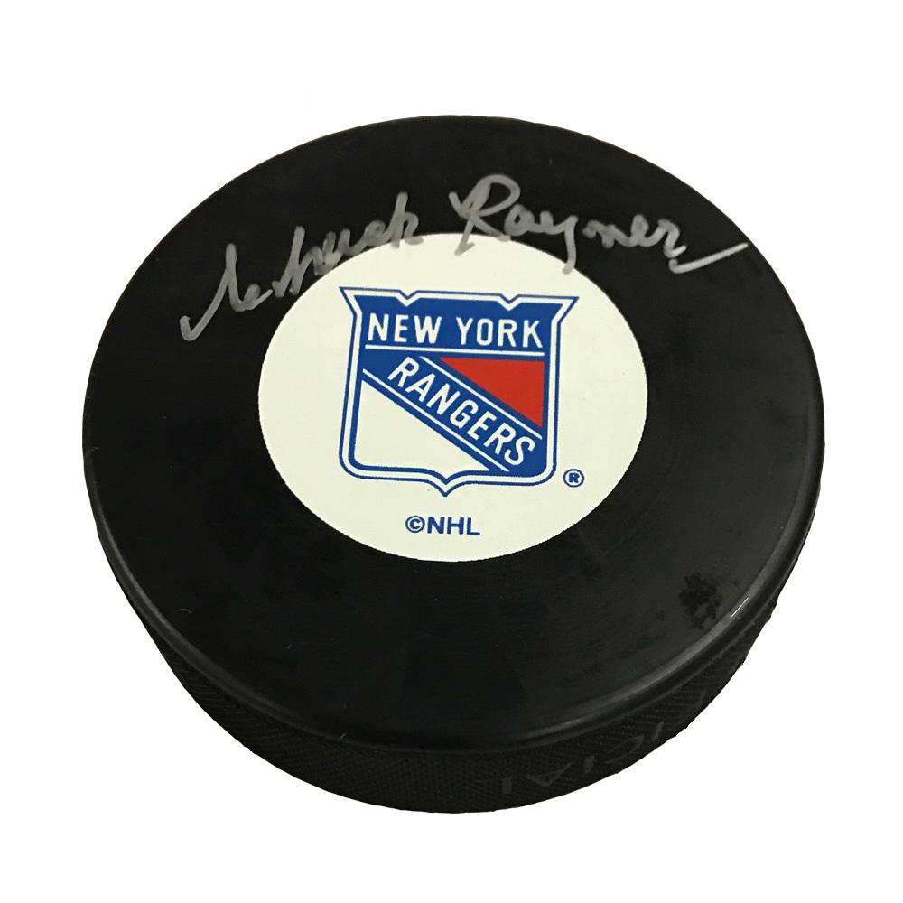 CHUCK RAYNER Signed New York Rangers Puck
