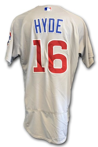 Photo of Brandon Hyde Game-Used Jersey -- Opening Day 2018 -- Cubs at Marlins -- 3/29/18