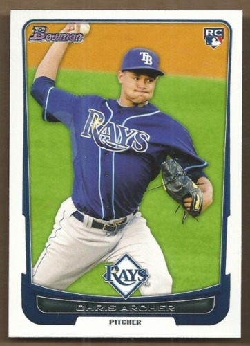 Photo of 2012 Bowman Draft #35 Chris Archer Rookie Card