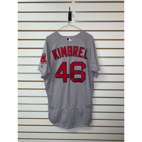 Photo of Craig Kimbrel Game Used July 8, 2018 Road Jersey - 27th Save of the Season