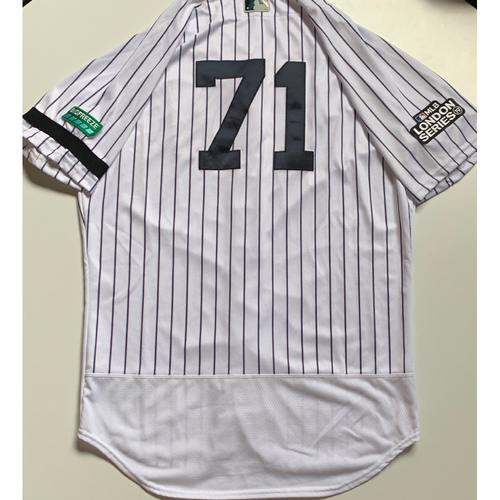 Photo of 2019 London Series - Game-Used Jersey - Stephen Tarpley, New York Yankees vs Boston Red Sox - 6/29/19