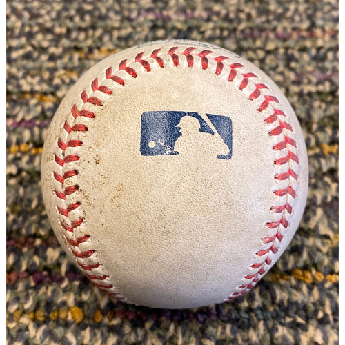Photo of 2019 Game Used Baseball used on 9/29 vs. LAD - T-7: Sam Coonrod to Gavin Lux - Walk on Ball 4 - Bruce Bochy's Final Game