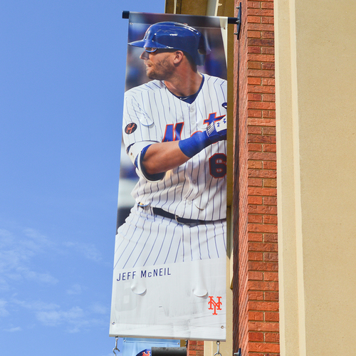 Photo of Jeff McNeil #6 - Citi Field Banner - 2019 Season