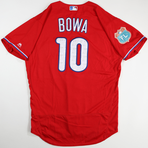 Photo of 2016 Spring Training - Spring Training Game Used Jersey - Larry Bowa (Phillies)- Size- 46