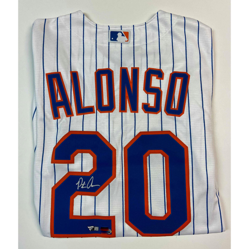 Photo of Pete Alonso Autographed Replica Mets Jersey