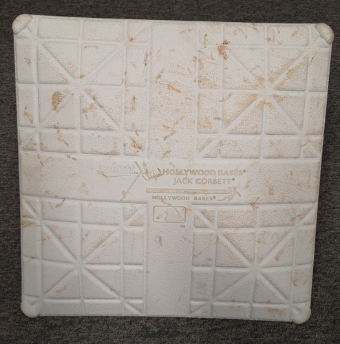 Photo of Authenticated Game Used Base: 3rd Base for Innings 4 to 6 (July 29, 20 vs WAS): MLB Debut for Nate Pearson and 1st Home Game of Season (in Washington)