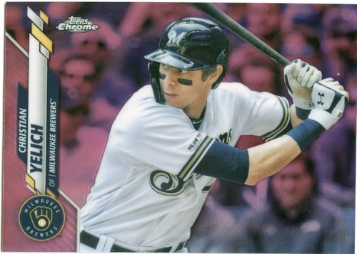 Photo of 2020 Topps Chrome Pink Refractors #138 Christian Yelich