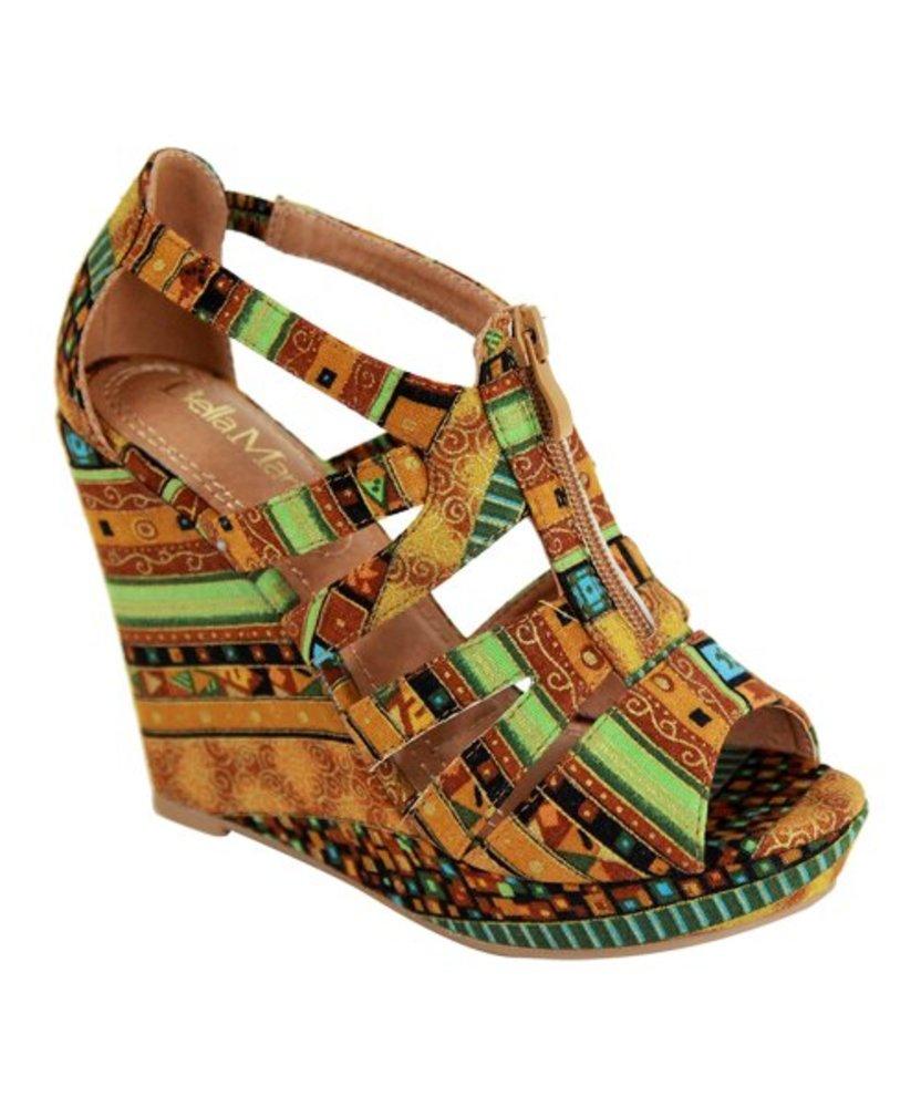 Photo of Bella Marie Geometric Troya Wedge Sandal