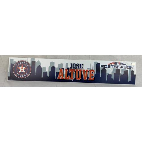 Photo of Jose Altuve 2018 Game-Used Postseason Locker Name Plate