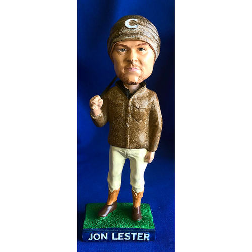 """Photo of UMPS CARE AUCTION: Chicago Cubs Player Personalities Jon Lester """"On the Farm"""" Bobblehead"""