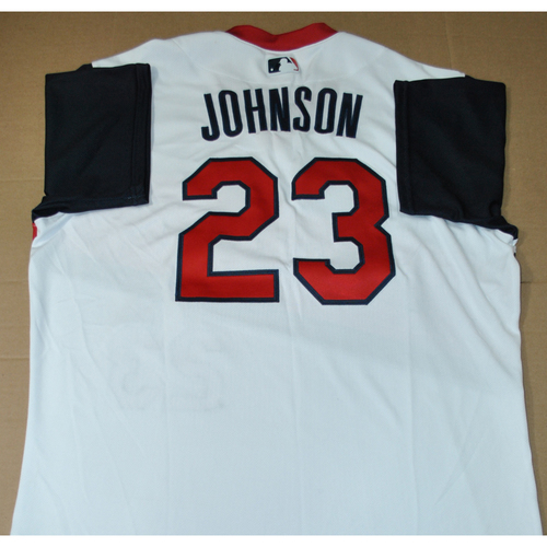Photo of Game-used Jersey - 2021 Little League Classic - Los Angeles Angels vs. Cleveland Indians - 8/22/2021 - Great Lakes, Daniel Johnson #23