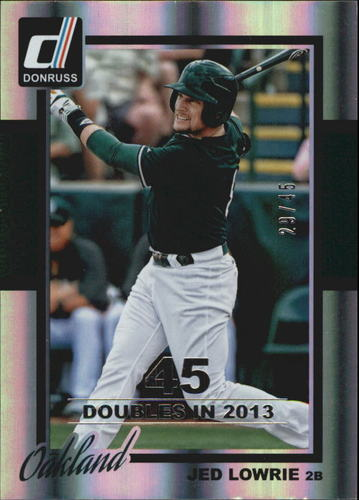 Photo of 2014 Donruss Stat Line Season #319 Jed Lowrie/45