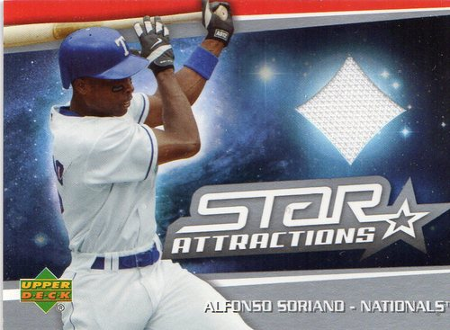 Photo of 2006 Upper Deck Star Attractions Swatches #AS Alfonso Soriano Jsy