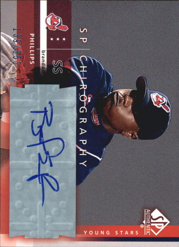 Photo of 2003 SP Authentic Chirography Young Stars #BP1 Brandon Phillips/350