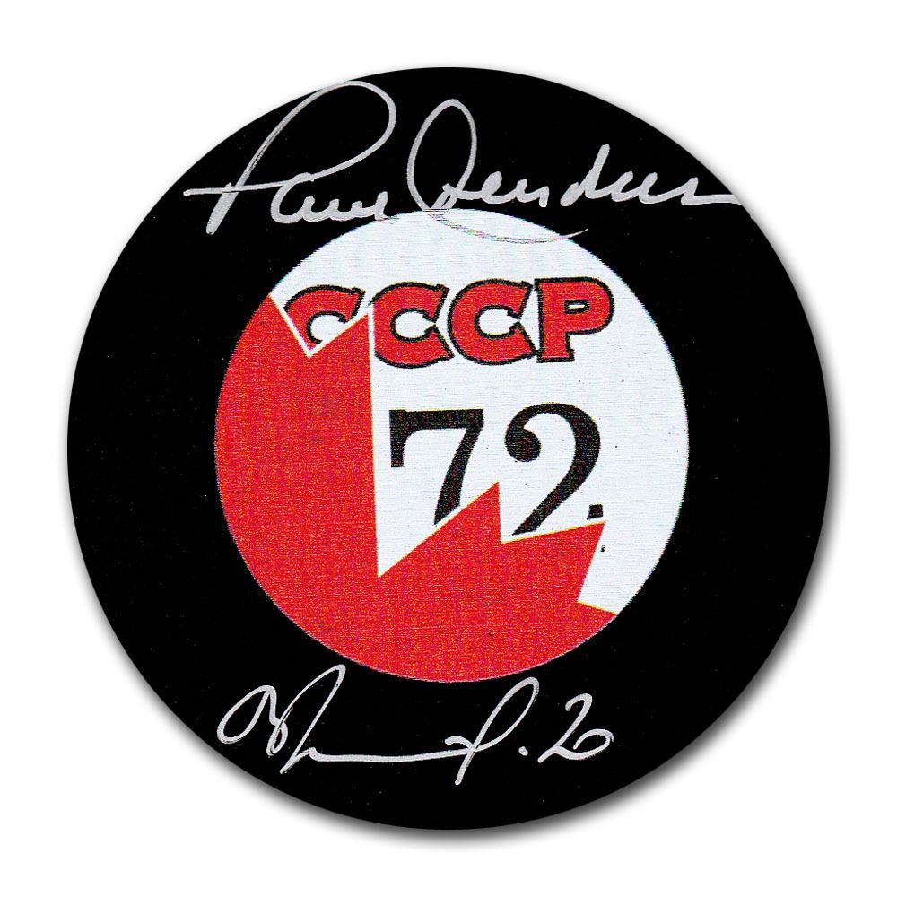 Paul Henderson & Vladislav Tretiak Autographed 72 Summit Series Puck
