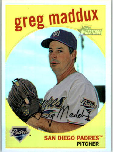 Photo of 2008 Topps Heritage Chrome Refractors #C151 Greg Maddux