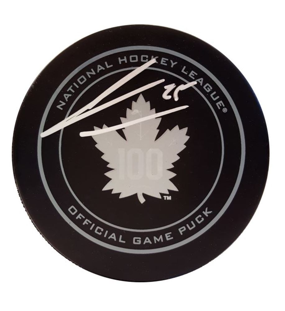 James Van Riemsdyk - Signed Toronto Maple Leafs 100th Anniversary Puck