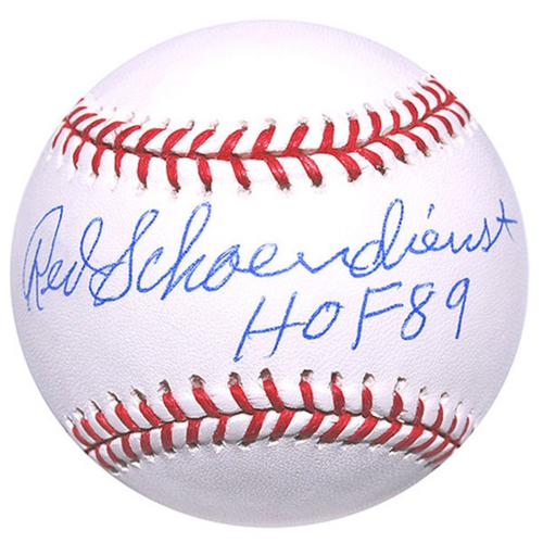 Cardinals Authentics: Red Schoendienst HOF 89 Inscribed Autographed Baseball