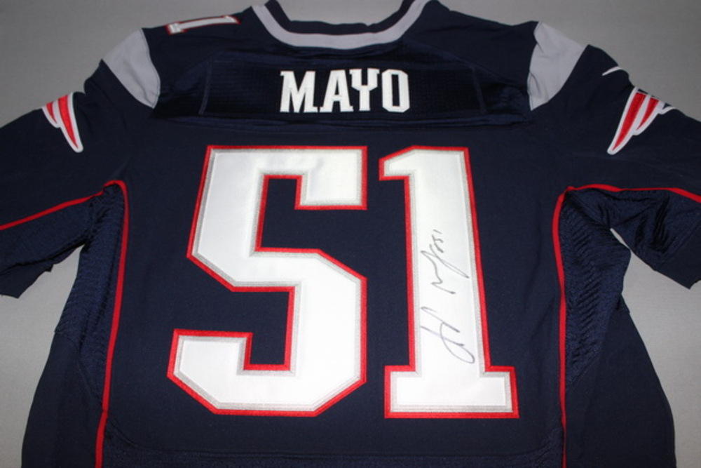 PATRIOTS - JEROD MAYO SIGNED AUTHENTIC PATRIOTS JERSEY - SIZE 44