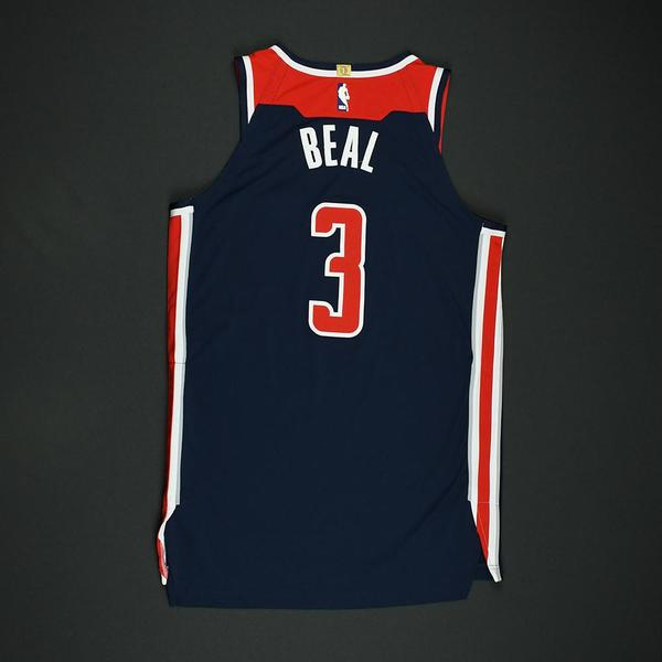 Bradley Beal - Washington Wizards - 2018 NBA Playoffs Game-Worn ... 56f52fb9c