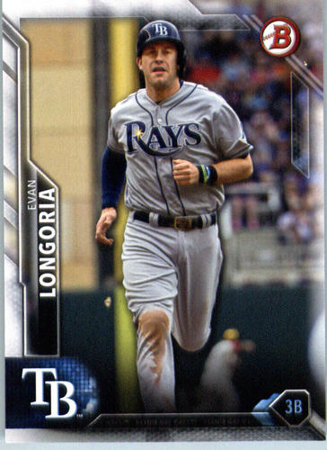 Photo of 2016 Bowman #84 Evan Longoria