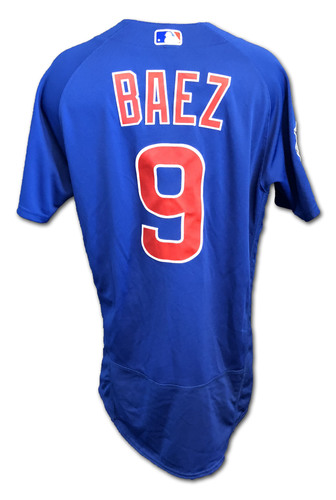Photo of Javier Baez Game-Used Jersey -- Cubs at White Sox -- 9/23/18