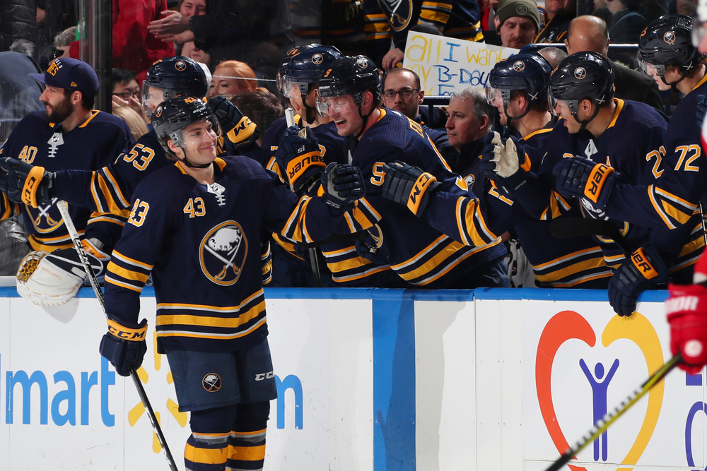 Buffalo Sabres vs. Toronto Maple Leafs 3-20-19, Sec 116, Row 1 Seats 17 & 18