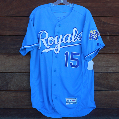 Photo of Game-Used Jersey: Whit Merrifield 431st Career Hit and 164th Career RBI (Game 7 of 31 Game Hit Streak - MIN @ KC - 9/16/18)