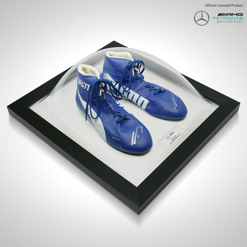 Photo of Valtteri Bottas 2017 Framed Signed Replica Race Boots