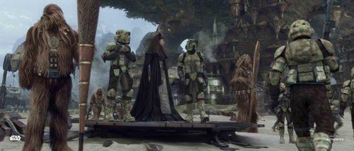 Luminara Unduli and Clone Troopers