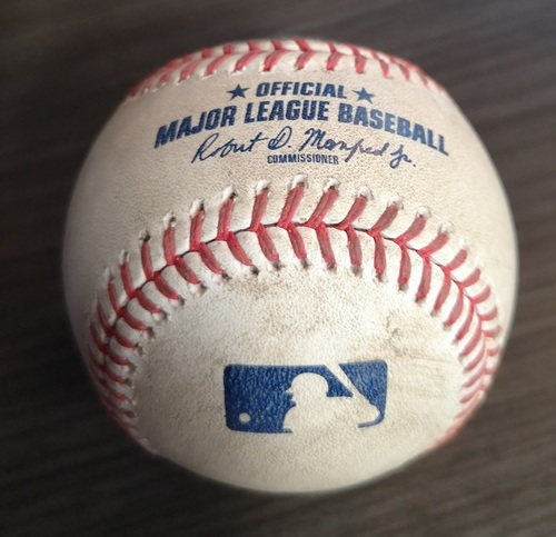 Photo of Authenticated Game Used Baseball: Strikeout by Zack Godley against Jake Marisnick (Sept 1, 19 vs HOU). Top 6. Justin Verlander recorded his 3rd Career No Hitter in the Game.