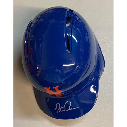 Photo of Pete Alonso Autographed Authentic Mets Batting Helmet