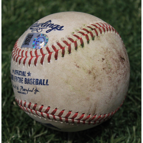 Photo of Game-Used Baseball: Kris Bryant 757th Career Hit (CHC @ KC 8/5/20)
