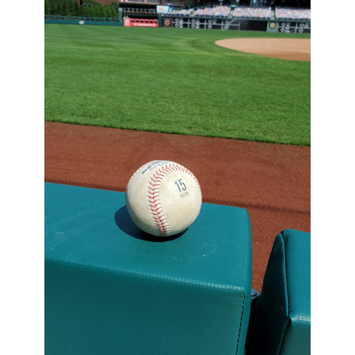 Photo of 2020 Game-Used Baseball (ALLEN 15 stamp): Pitcher: Zach Eflin, Batter: Trea Turner - First Career Inside the Park Home Run - Top 3 - 9-3-2020 vs. WAS