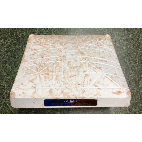 Game-Used 2nd Base COL@MIL NLDS Game 1 (10/04/18) & Game 2 (10/05/18) - Innings 1-3 Each Game - Christian Yelich 1st Career Postseason Hit/HR (2-Run HR, 3rd Inning, 10/04/18)