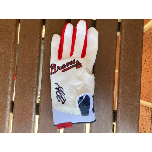 Ozzie Albies Autographed Batting Glove (Not MLB Authenticated, COA Provided)