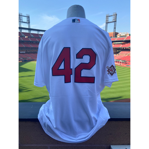 Photo of Cardinals Authentics: Team Issued Tyler Webb Jackie Robinson Day Jersey